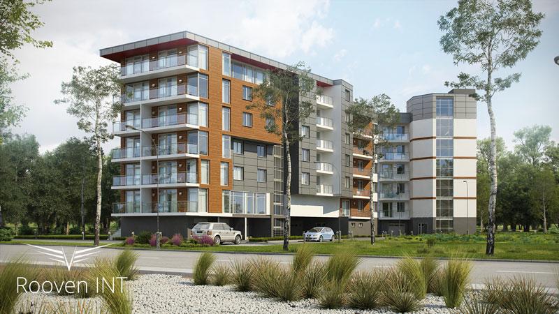 wizualizacje 3d wielomieszkaniowego budynku