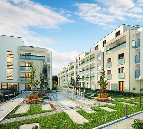 wizualizacje 3d budynku z widokiem na patio