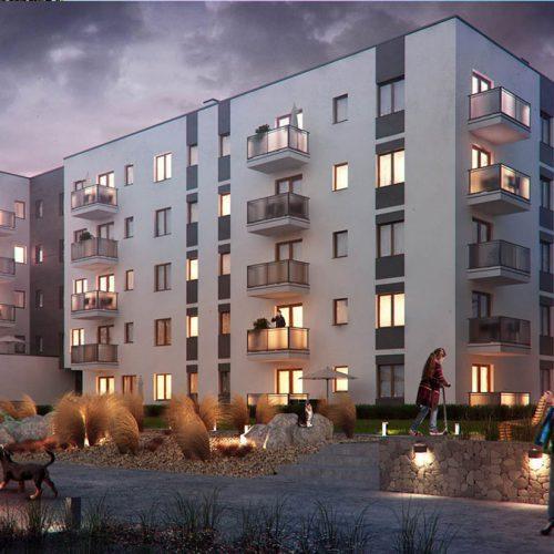 3d wizualizacje architektoniczne, ujęcie budynku