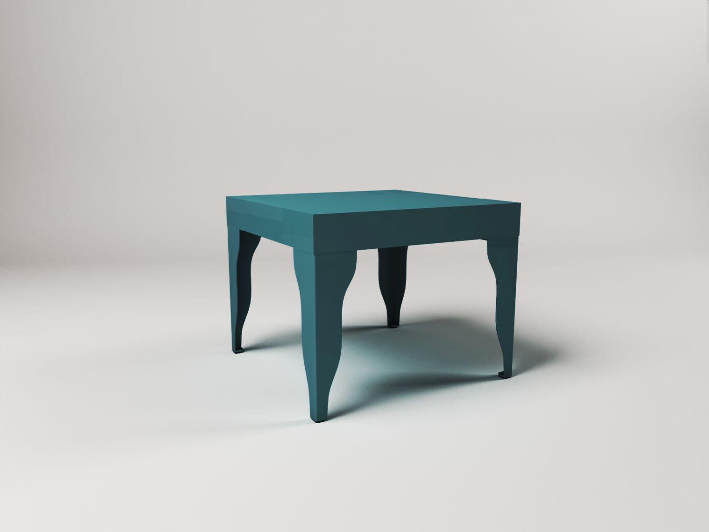 wizualizacje 3d stolika kawowego w studio fotograficznym