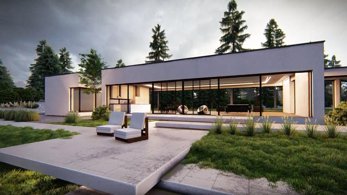 spacery wirtualne 3d domu nowoczesnego