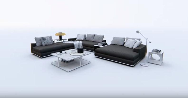animacje mebli tapicerowanych 360 stopni