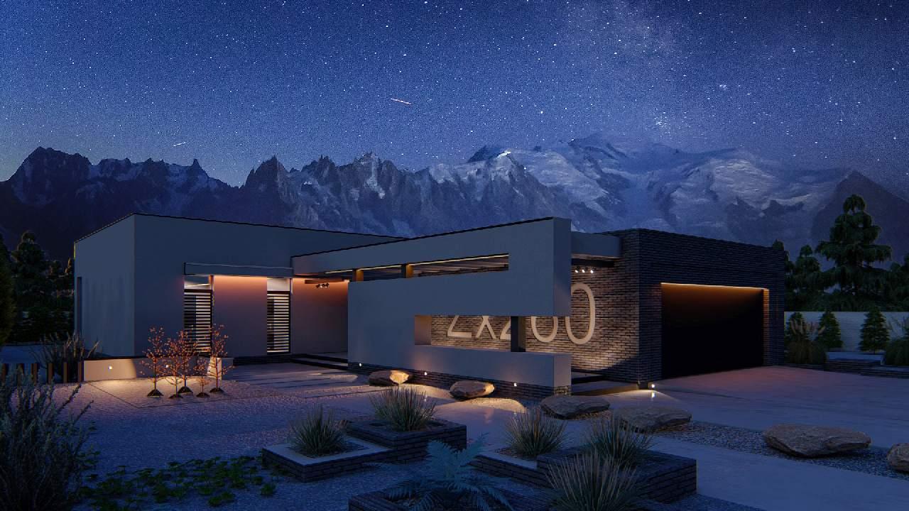 wizualizacja projektu domu jednorodzinnego
