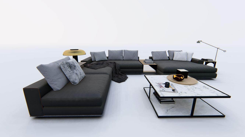 wizualizacje mebli tapicerowanych na białym tle