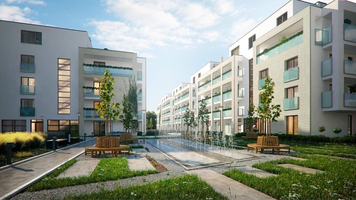 wizualizacje 3d budynku mieszkalnego nowoczesnego