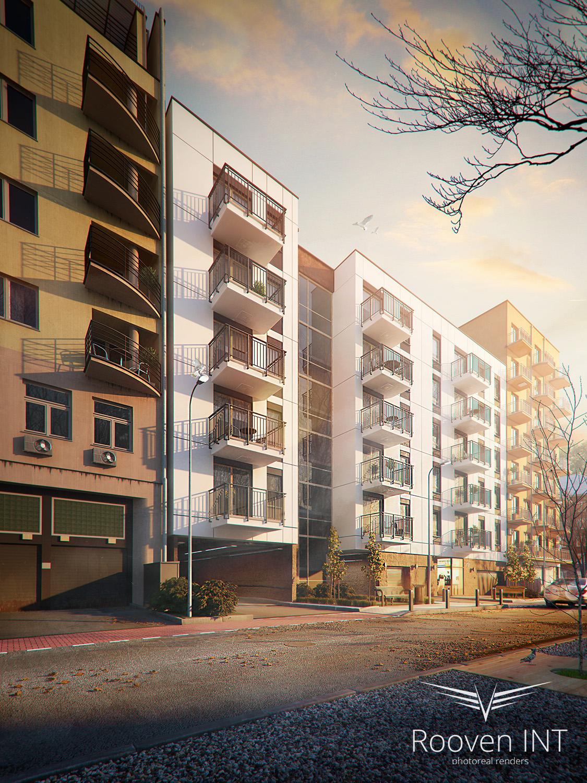 wizualizacje 3d nowoczesnego budynku