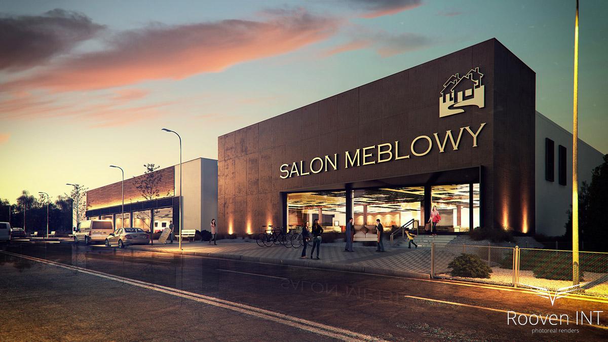 wizualizacje 3d centrum handlowego i sklepów