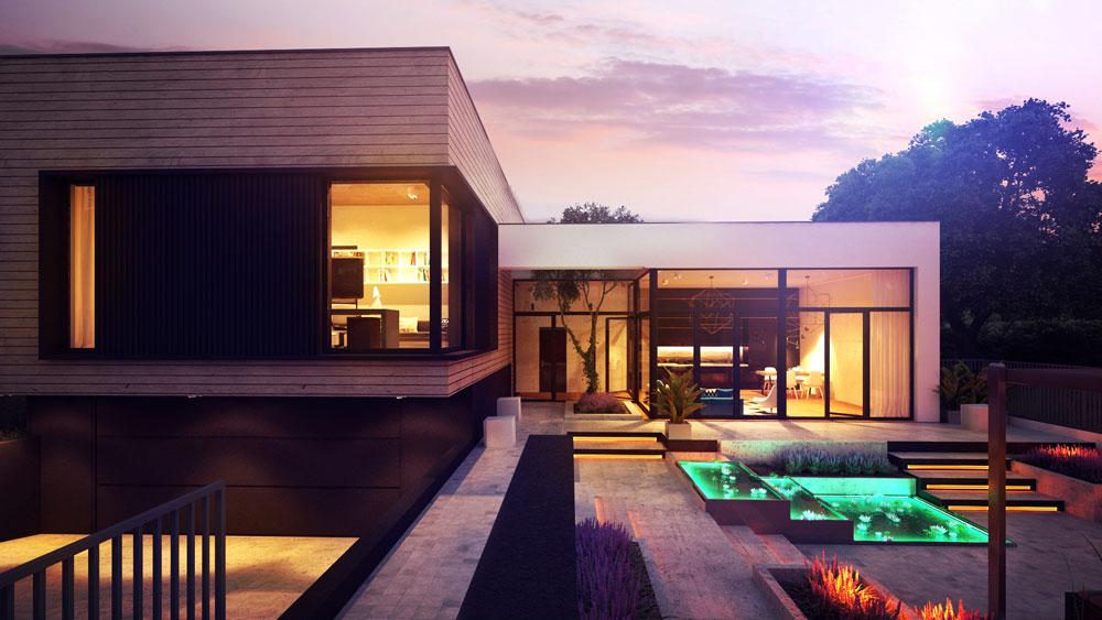 wizualizacje domu nowoczesnego