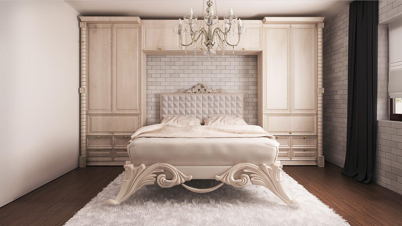 wizualizacje wnętrz sypialni w tradycyjnym stylu