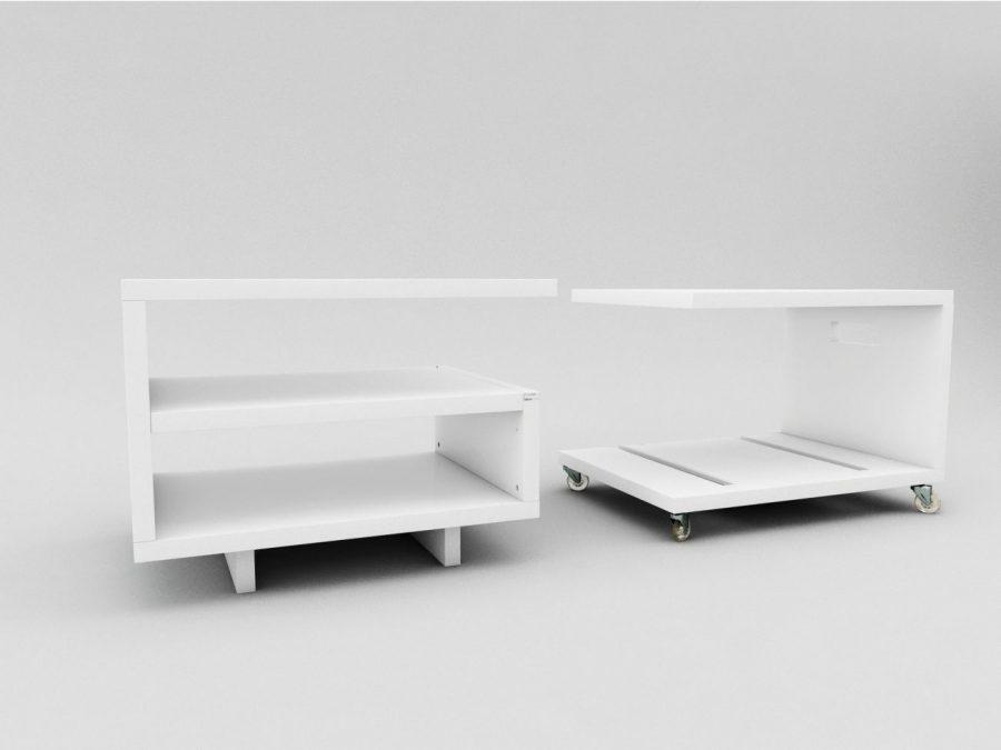 wizualizacje 3d mebli i szafek nocnych