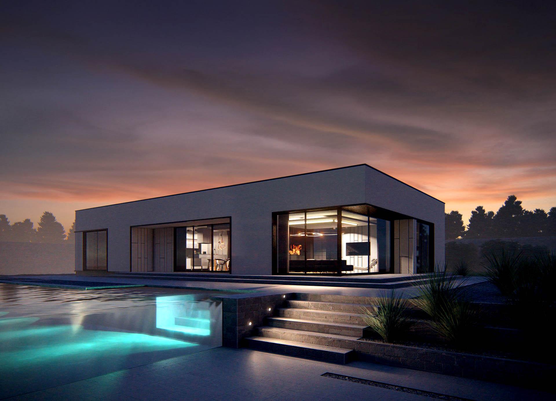 wizualizacja 3d domu