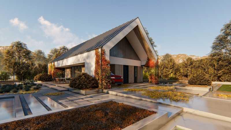 wizualizacje realistyczne domów jednorodzinnych