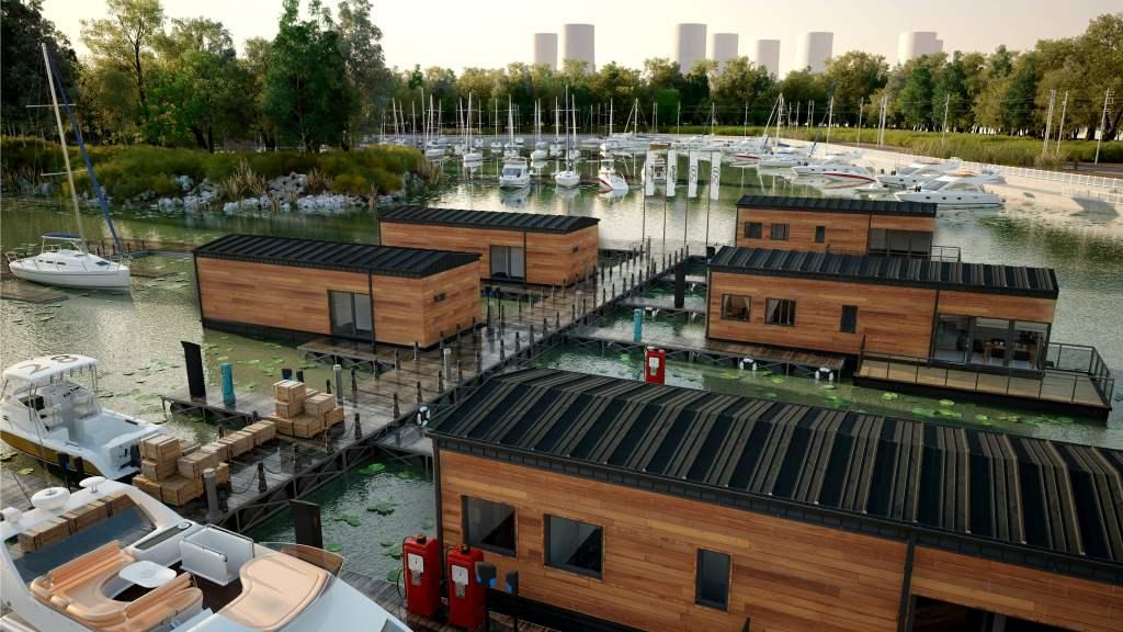 wizualizacje domu na wodzie