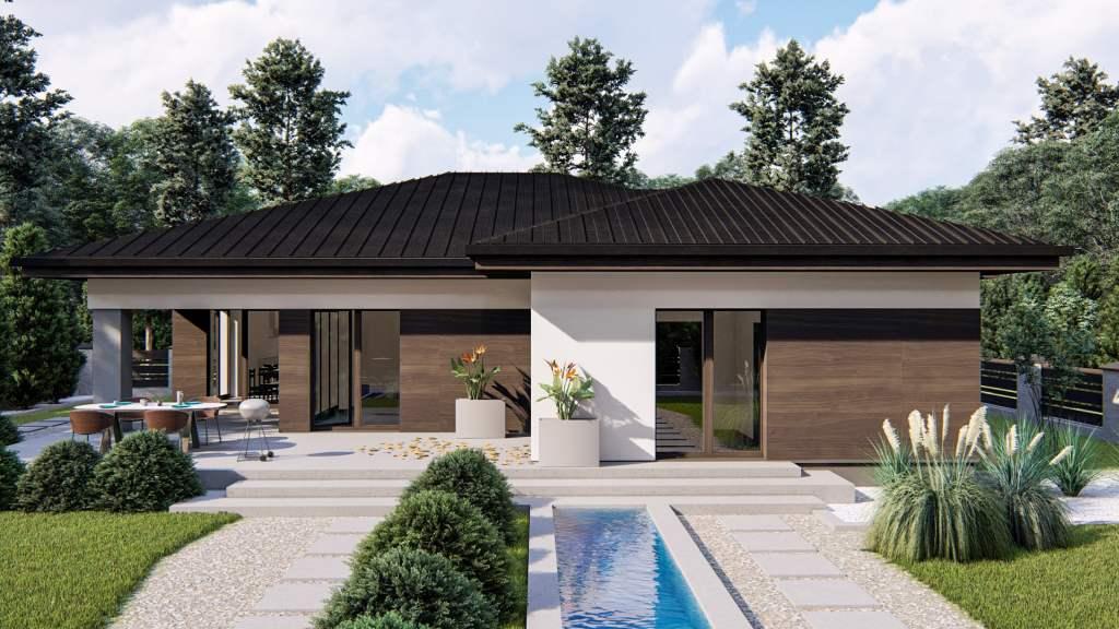 wizualizacje elewacji domu jednorodzinnego