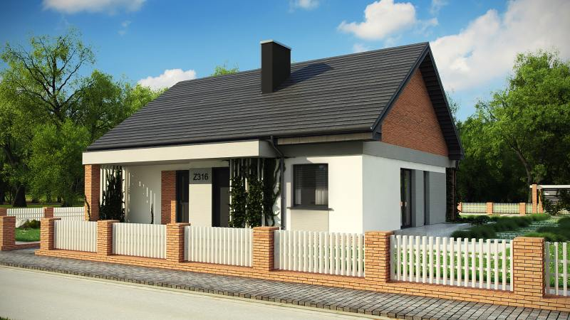 wizualizacje taniego domu jednorodzinnego