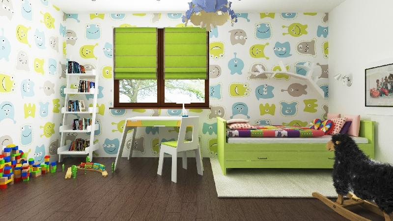 wizualizacje tapet w pokoju dzieciecym