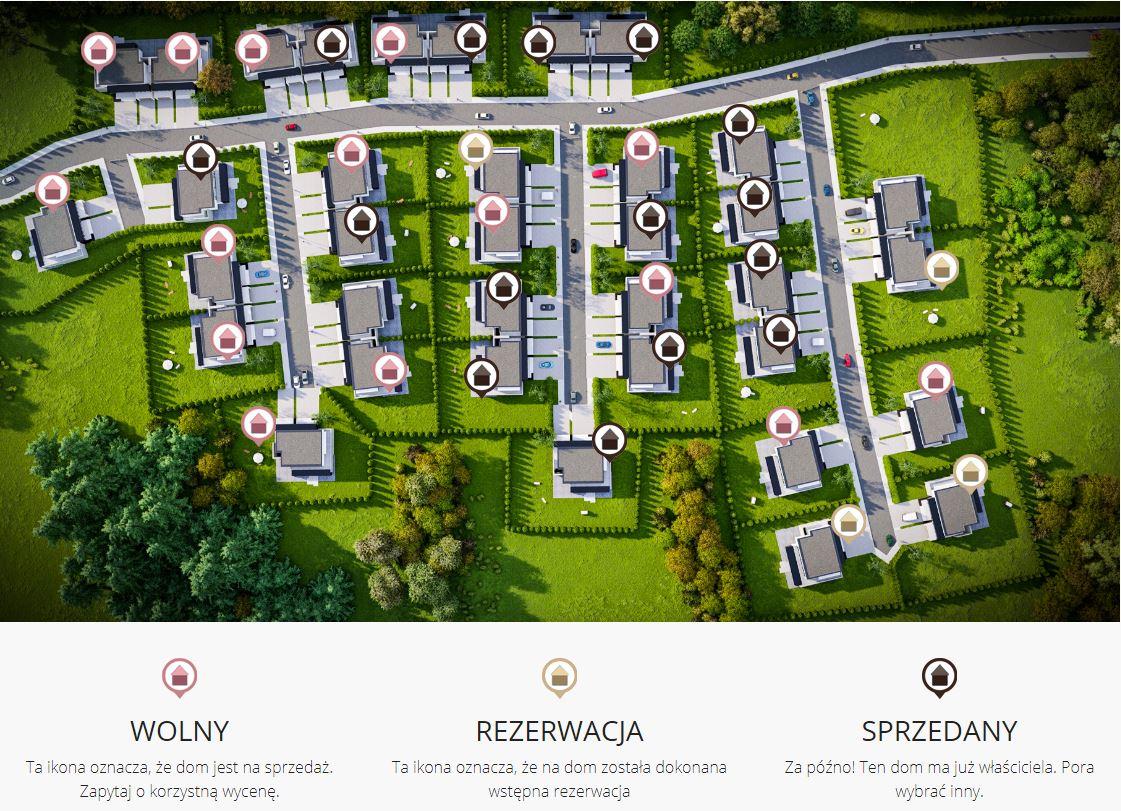 cena strony internetowej osiedla z mapa interaktywna