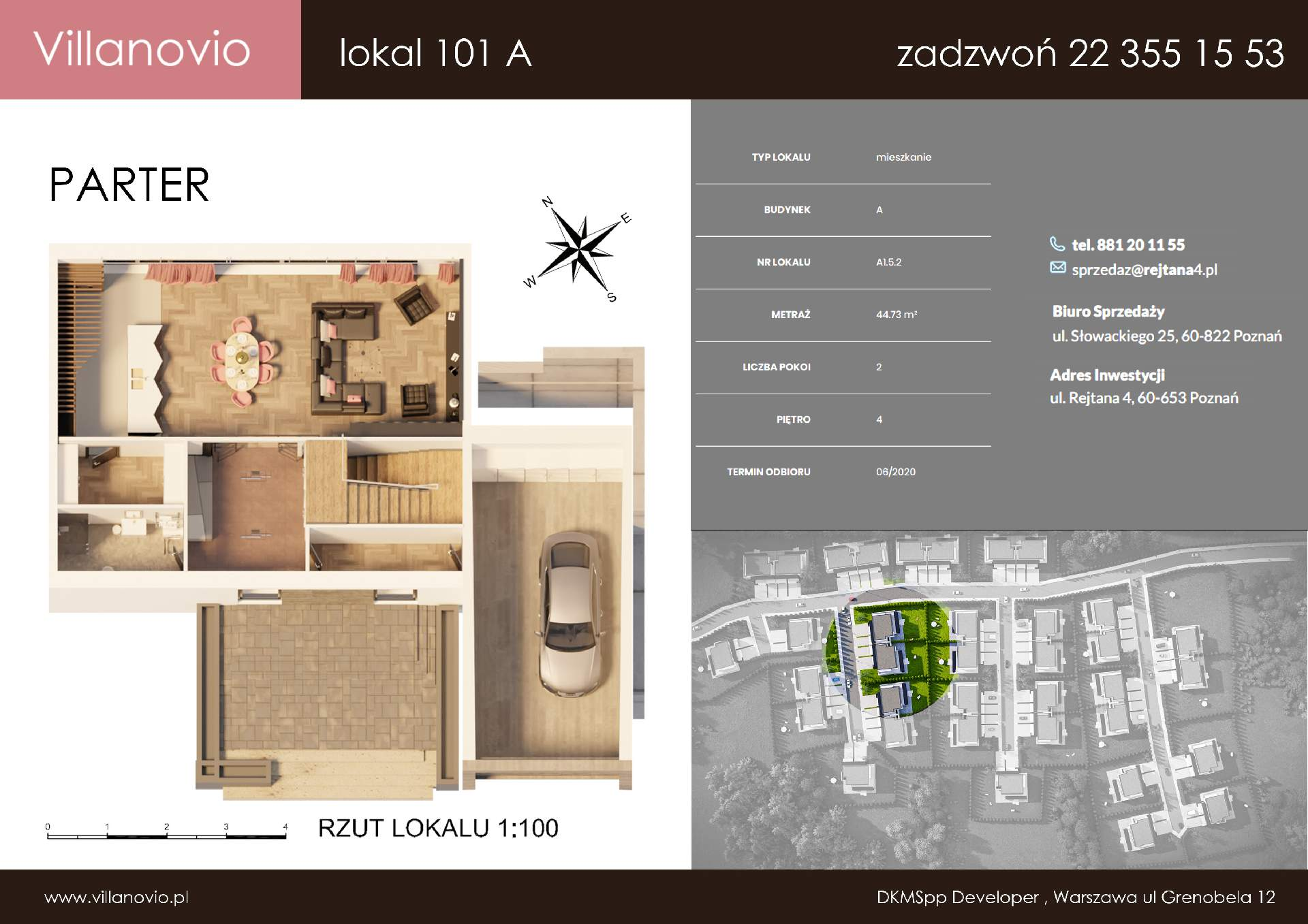 karta lokalu i karty mieszkań dla deweloperów przy budowie osiedla i domów