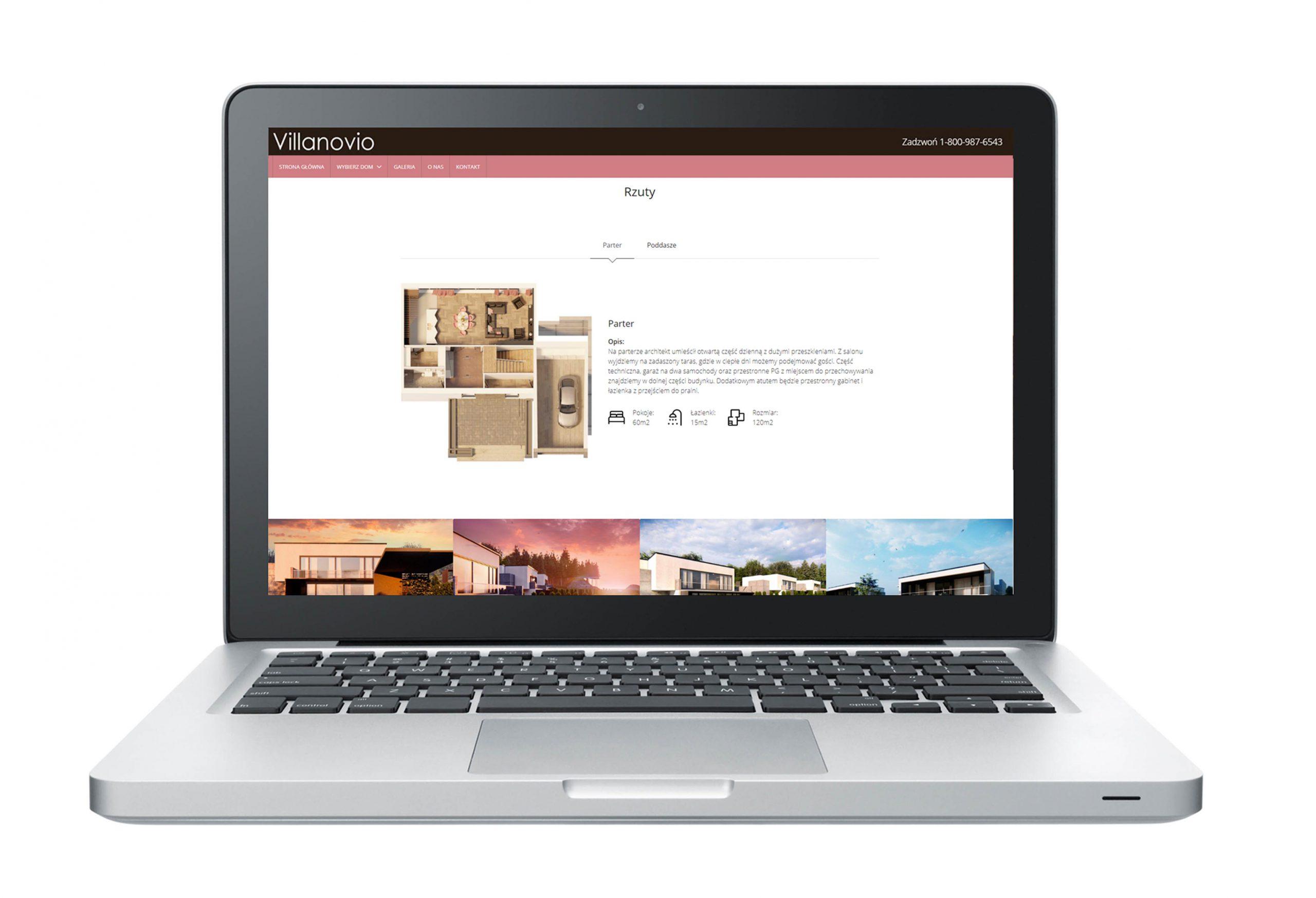 strona internetowa osiedla rzut mieszkania i galeria