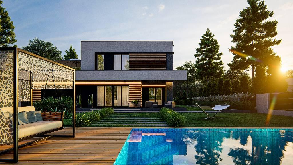 grafika komputerowa i wizualizacje domów i osiedli mieszkaniowych