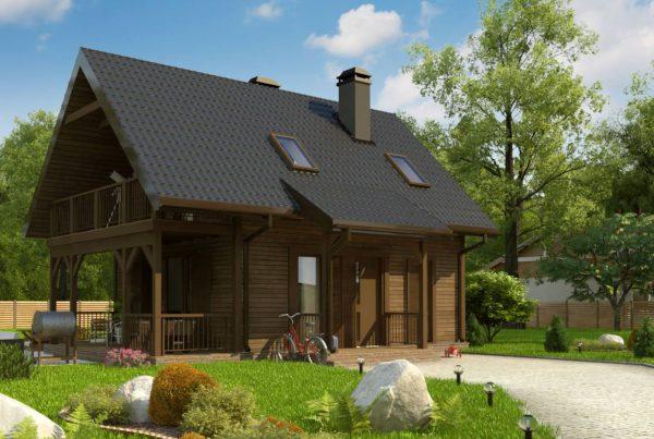 wizualizacje domków działkowych na działke