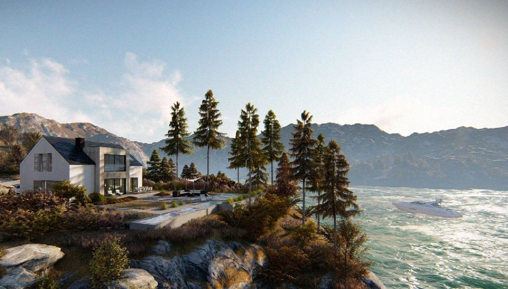 wizualizacje domkow letniskowych nad morzem piękny widok