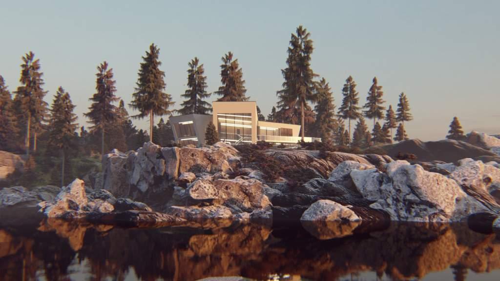 wizualizacje rezydencji i grafika nowoczesnego domu