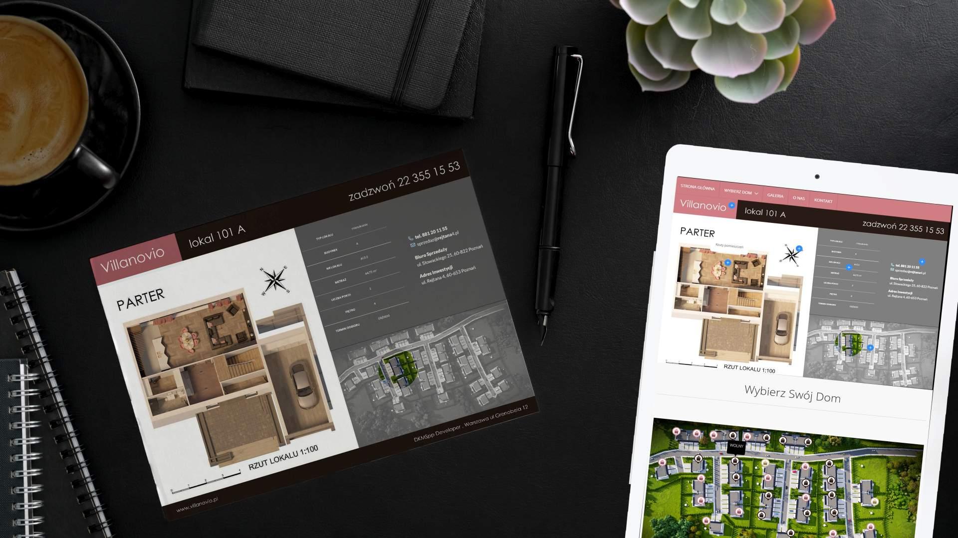 rooven materuiały reklamowe inwestycji budowlanej