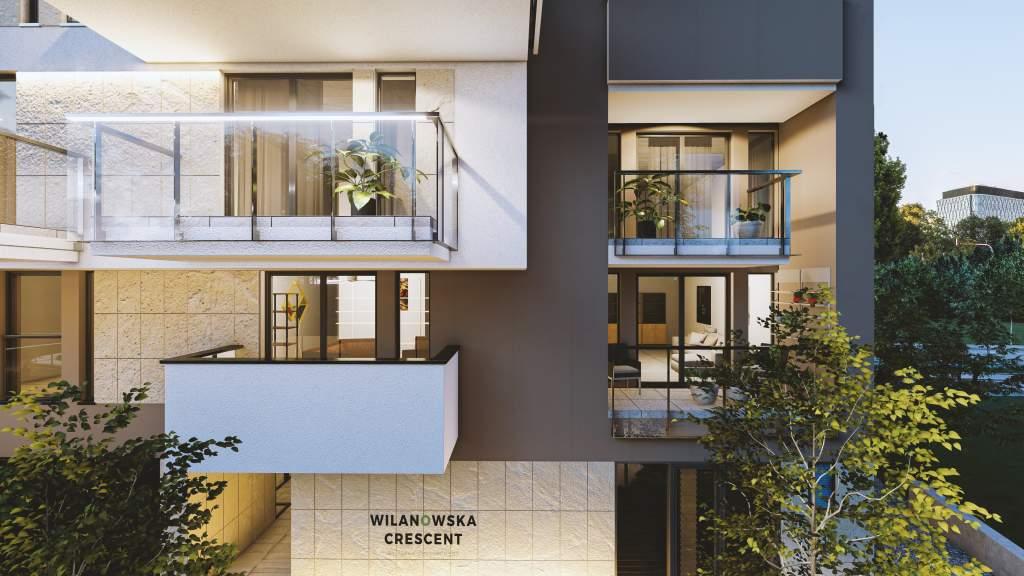 wilanowska crescent wizualizacje balkon