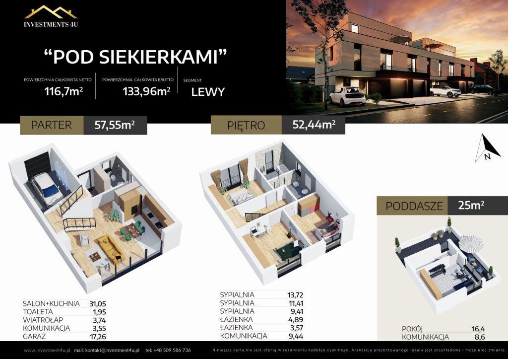 karta lokalu bliźniaka z rzutem pomieszczeń na białym tle karta mieszkania