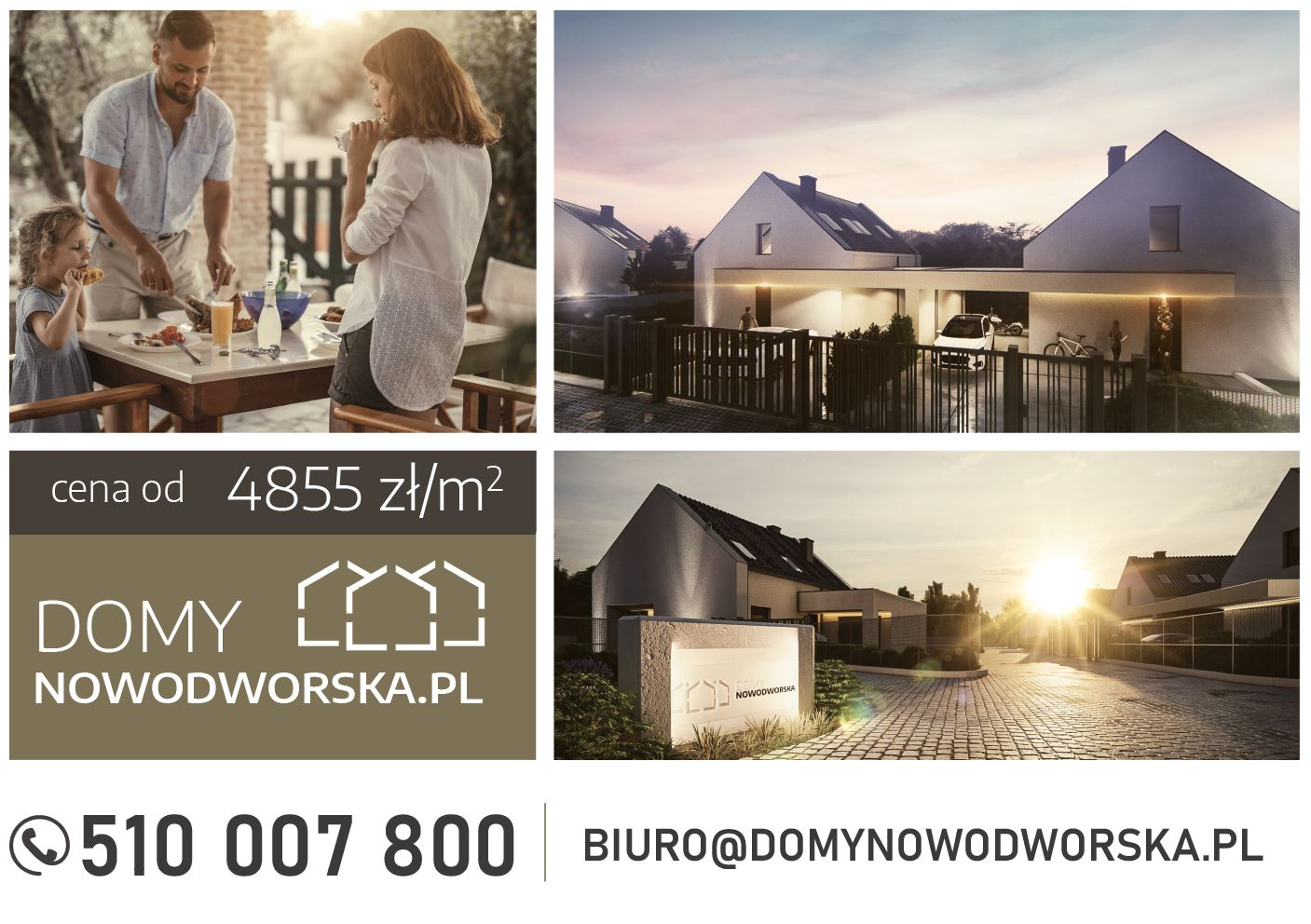 osiedle domow jednorodzinnych baner reklamowy